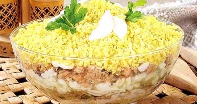 Салат мимоза пошаговый рецепт